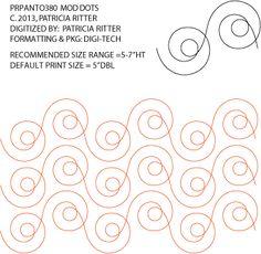 Mod Dots Pantograph by Patricia Ritter PRPANTO380