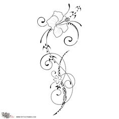 TATTOO TRIBES: Tattoo of Ātaahua, Beauty tattoo,flower hibiscus frangipani koru tattoo - royaty-free tribal tattoos with meaning Side Tattoos, Trendy Tattoos, Body Art Tattoos, New Tattoos, Sleeve Tattoos, Koru Tattoo, Swirl Tattoo, Tattoo Bird, Tribal Tattoos With Meaning