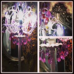 My real #gypsy lair!!!! #purple #chandelier #lamp #damask #mirror #victorian #crystal #home #decor #design #fashion #style Follow me at samanthas_swag on Instagram for all my personal style ;)