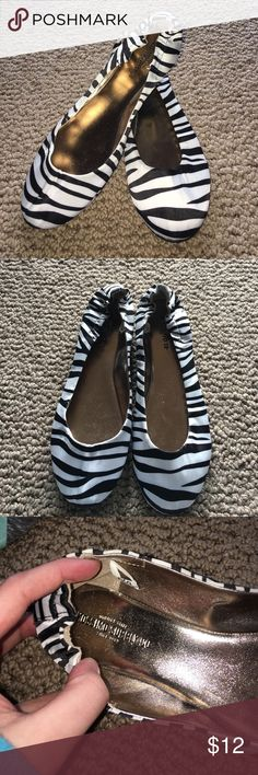 Zebra print flats Zebra print flats-size 7-only worn a couple times and in great condition! Mossimo Supply Co Shoes Flats & Loafers