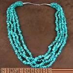 Turquoise Bead Necklace Native American Jewelry