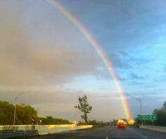 From Brennan D. - A rainbow that appeared over I-480 and Rt. 422 just east of Cleveland on 5/9/12.