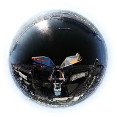 Wide Angle Fish Eye View From Harbor Crane In The Port Of Amsterdam. Photo By Wouter Van Buuren