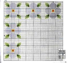 GRÁFICOS DA ANA: Flores em ponto reto - gráfico