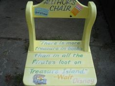 Author's Chair. Love the quote. However, I think I want the author's chair in my room to look like a throne...maybe have the kids wear a crown while reading?