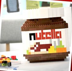 Lego nutella - here's a jar of Nutella you can resist @Wendy Inman !!!