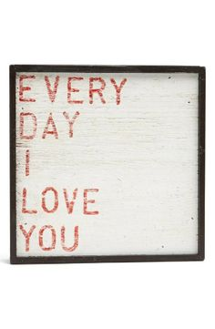 Sugarboo Designs Every Day I Love You Vintage Framed Art Print