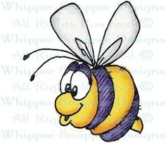 Bix Bee - Bugs - Rubber Stamps - Shop