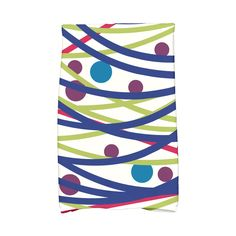 E by Design 16 x 25-inch, Doodle Decorations, Print Hand Towel