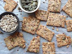 Semínkové krekry - Víkendové pečení Snack Recipes, Snacks, Low Carb Keto, Baked Goods, Banana Bread, Rolls, Food And Drink, Vegetarian, Cooking