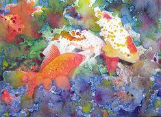 Goldfish Painting Fine Art Print Reproduction Watercolor