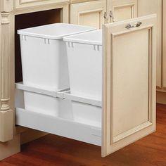 "Rev-A-Shelf 18"" Double 35 Quart Tandem Pullout Waste Container"