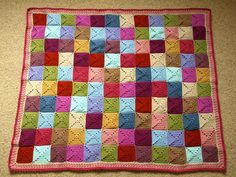 """Cottage"" Squares Blanket 