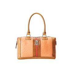 US Polo Assn Womens Monty Faux Leather Lined Satchel Handbag Orange Medium *** For more information, visit image link.