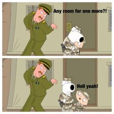 Stewie and Brian try to get kicked out of the Army..