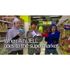 You're Beautiful   When A.N.JELL goes to the supermarket. - IG is deleting my posts or something cause I don't know what happened to my previous picture  Oh well, here you have A.N.JELL ❤️