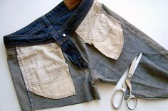 how to properly cut off jeans/pants to make shorts.good to know for those adorable DIY lace jean shorts! Do It Yourself Jeans, Do It Yourself Quotes, Do It Yourself Baby, Do It Yourself Inspiration, Do It Yourself Fashion, Looks Style, Looks Cool, Style Me, Sewing Hacks