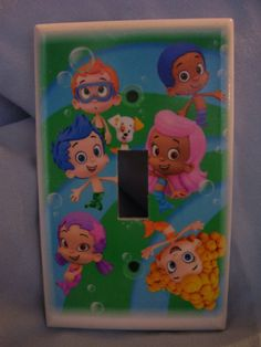 Bubble Guppies Light Switch Cover Plate for bedroom by thewagner8, $3.00
