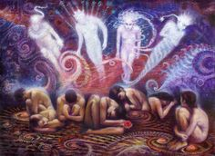 Spirits of Women oil on large canvas 2010-2015 © dennis potokar  All rights reserved.