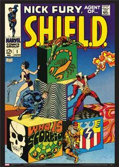 Nick Fury, Agent of S.H.I.E.L.D #1 (June 1968) Marvel Comics Official Cover Poster Print - available at www.sportsposterwarehouse.com