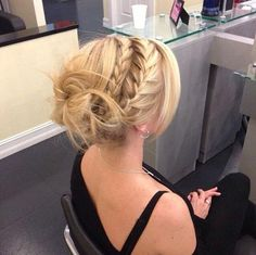 Braided updo. Hair by Samantha Seider