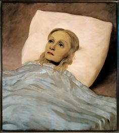 "Curatorial Walk-through of ""NYC 1993: Experimental Jet Set, Trash and No Star"" :: New Museum - John Currin ""Girl in Bed"" 1993, oil on canvas, 38x48"" courtesy Gagosian Gallery. photo: Robert McKeever"