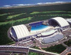 Vue aérienne de l'Ocean Dome au Japon