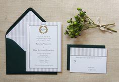 Sample Rustic Fall Oak Wedding Invitation by AmandaDayRose on Etsy, $5.00