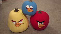My Angry Bird craft pumpkins that I painted :)