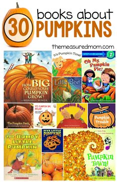 This post has 30+ pumpkin books perfect for your fall theme in preschool or kindergarten!