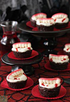 Vampire Bite Brownies Halloween Recipe   Oh Nuts Blog #brownies