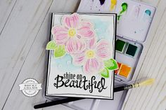 Hey Stamp & Scrapbook Expo friends and fans, Becki here to share with you a stamped and painted card that I created with a stamp set from our Latest & Greatest Stamping workshops. The stamp set I'm playing with today is the Big Bloom set from Dare 2B Artzy. I started by gathering a few …