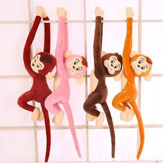 Cheap monkey stuffed, Buy Quality long arm monkey directly from China plush toys Suppliers: Amysh HOT 4 Colors Long Arm Monkey from Arm to Tail Plush Toys Colorful toy soft Monkey Curtains Monkey Stuffed Animal Doll Pet Toys, Kids Toys, Cartoon Monkey, Kids Birthday Gifts, Plush Animals, Classic Toys, Stuffed Toys, Stuffed Animals, Baby Dolls