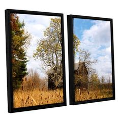 "ArtWall Cvnp Barn by Cody York 2 Piece Framed Photographic Print on Wrapped Canvas Set Size: 24"" H x 36"" W x 2"" D"