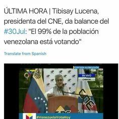 Mientras muchos centros de votavión se reflejan vacios en todo el territorio nacional PNB y Guardia Nacional amedrenta contra manifestantes de oposición y prensa (ya hay heridos y muertos en algunos puntos del pais)...Tibisay Lucena ofrece estas declaraciones... . #venezuela #noticias #noalaconstituyente #libertad