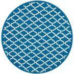 Newport Indigo/Ivory (Blue/Ivory) 6 ft. x 6 ft. Round Area Rug