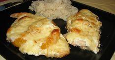 Gyümölccsel kombinált könnyű hús, kicsit édes, kicsit sós, szerintem az ízhatás remek :) Hozzávalók, 4 személyre: 2 egész csirkemell filé ...