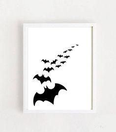 Bat Print Printable Art Boys Room Art  Wall Art Animal Room Art, Room Decor, Wall Decor, Wall Art, Scandinavian Nursery, Animal Prints, Nursery Prints, Bats, Printable Art