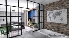 bedroom with open bathroom