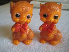 Vintage Hong Kong Celluloid Mouse Figural Salt Pepper Shakers | eBay