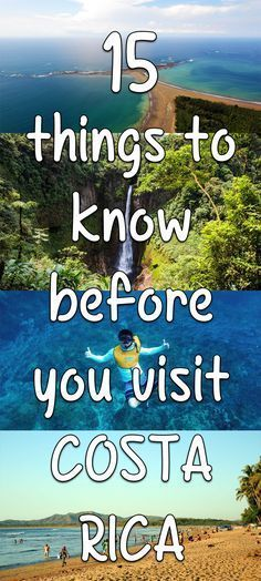 Visiting Costa Rica? Here are 15 things to know before you visit to help plan your trip: mytanfeet.com/...