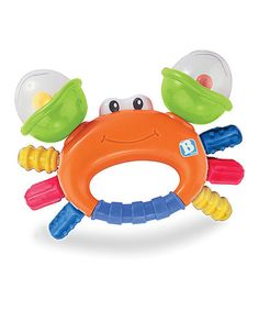 This Happy Sand Crab Rattle & Teether is perfect! #zulilyfinds