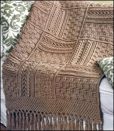 alexia dives posted 5 Stunning Aran Afghans Basketweave Sampler Crochet Pattern Book to their -knits and kits- postboard via the Juxtapost bookmarklet. Crochet Afghans, Crochet Motifs, Afghan Crochet Patterns, Crochet Squares, Crochet Stitches, Granny Squares, Blanket Crochet, Crochet Home, Knit Or Crochet