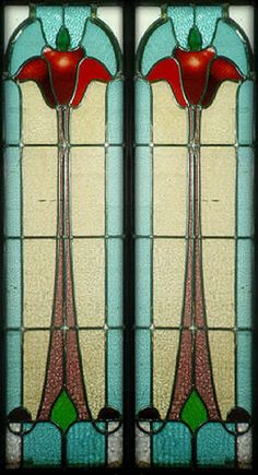 Edwardian glass....highly stylized = LOVE