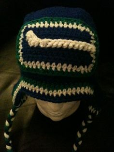 Items similar to Crocheted Vancouver Canucks beanie with ear flaps (all sizes available) on Etsy Beanie With Ears, Vancouver Canucks, Game, Crochet, Pretty, Handmade, Crafts, Vintage, Ice Hockey