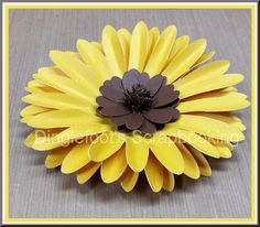 Handmade Paper Sunflower Tutorial                                                                                                                                                     More
