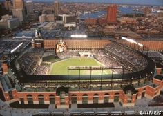 Oriole Park at Camden Yards, Baltimore Orioles ballpark - Ballparks of Baseball Baltimore Orioles Baseball, Baltimore Maryland, The Places Youll Go, Great Places, Places To Go, Amazing Places, Beautiful Places, Camden Yards, Mlb Stadiums