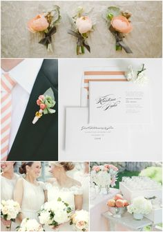 Romantic Peach Wedding Inspiration from Shine Wedding Invitations! #peachperfection #peachwedding #shineweddinginvitations
