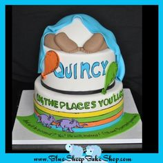 Oh, The Places You'll Go Cake By BlueSheepBakeShop on CakeCentral.com