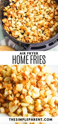 Air Fryer Home Fries are easy to make and pair with all of your favorite breakfast foods! These fried potatoes can be made with onions and peppers. They can even be paired with other foods! Breakfast Potatoes Easy, Savory Breakfast, Best Breakfast, Breakfast Casserole, Breakfast Recipes, Breakfast Ideas, Home Fries, Side Dishes, Main Dishes